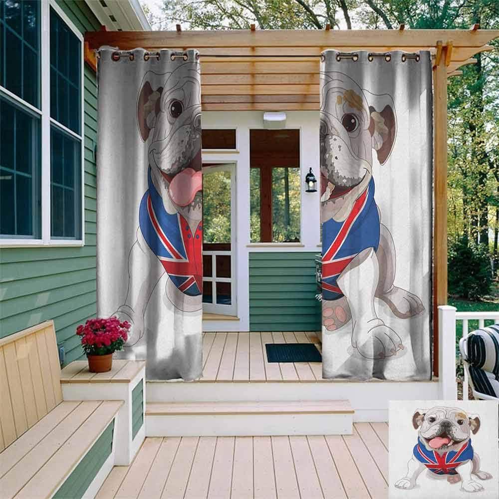 XXANS - Cortina de pérgola con diseño de Bulldog Retrato con ...