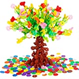 Toys : 750PCS Building Blocks Flakes Set Toy Interlocking Plastic Disc Educational Stem Toys for Boy and Girls Ideal from age 3 to adult