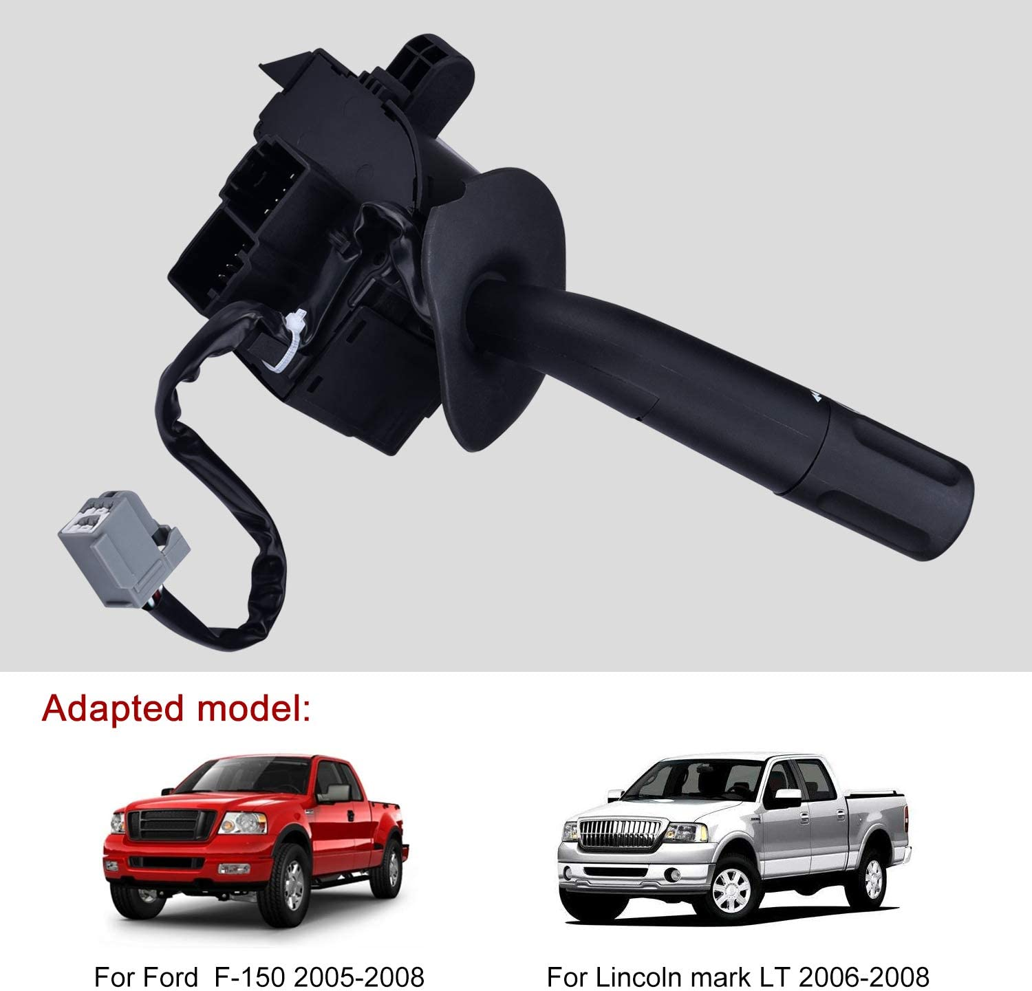 SPEEDWOW Turn Signal Wiper Dimmer Combination Headlight Lever Switch for 2005-2008 Ford F150 2006-2008 Lincoln Mark LT Trunk Replaces 5L3Z13K359AAA