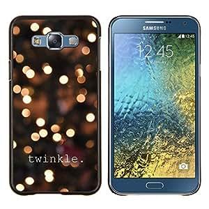 Stuss Case / Funda Carcasa protectora - Luces de la ciudad Texto brillante Noche de Blur - Samsung Galaxy E7 E700