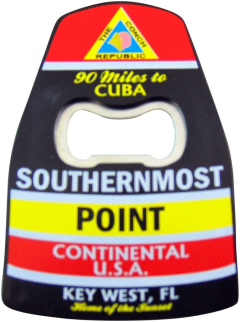 Southernmost Point Bottle Opener with Magnet Key West Florida Souvenir