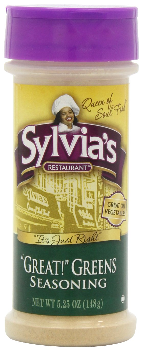 Sylvia's Great Greens Seasoning, 5.25-Ounce Containers (Pack of 12)