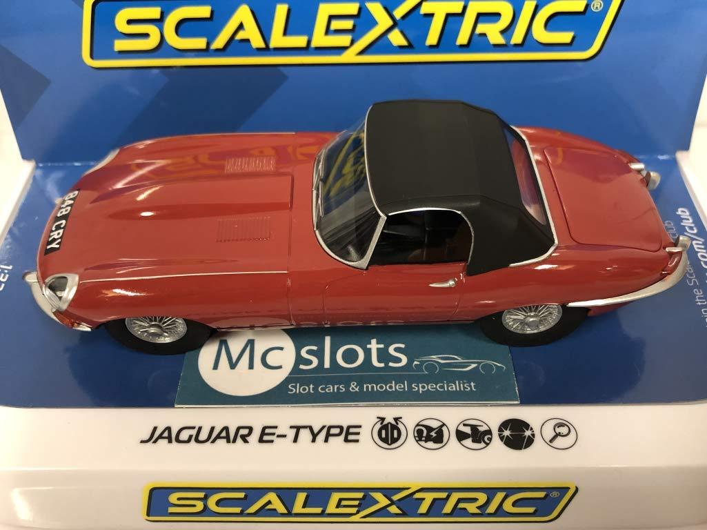 Scalextric Jaguar E-Type Red C4032