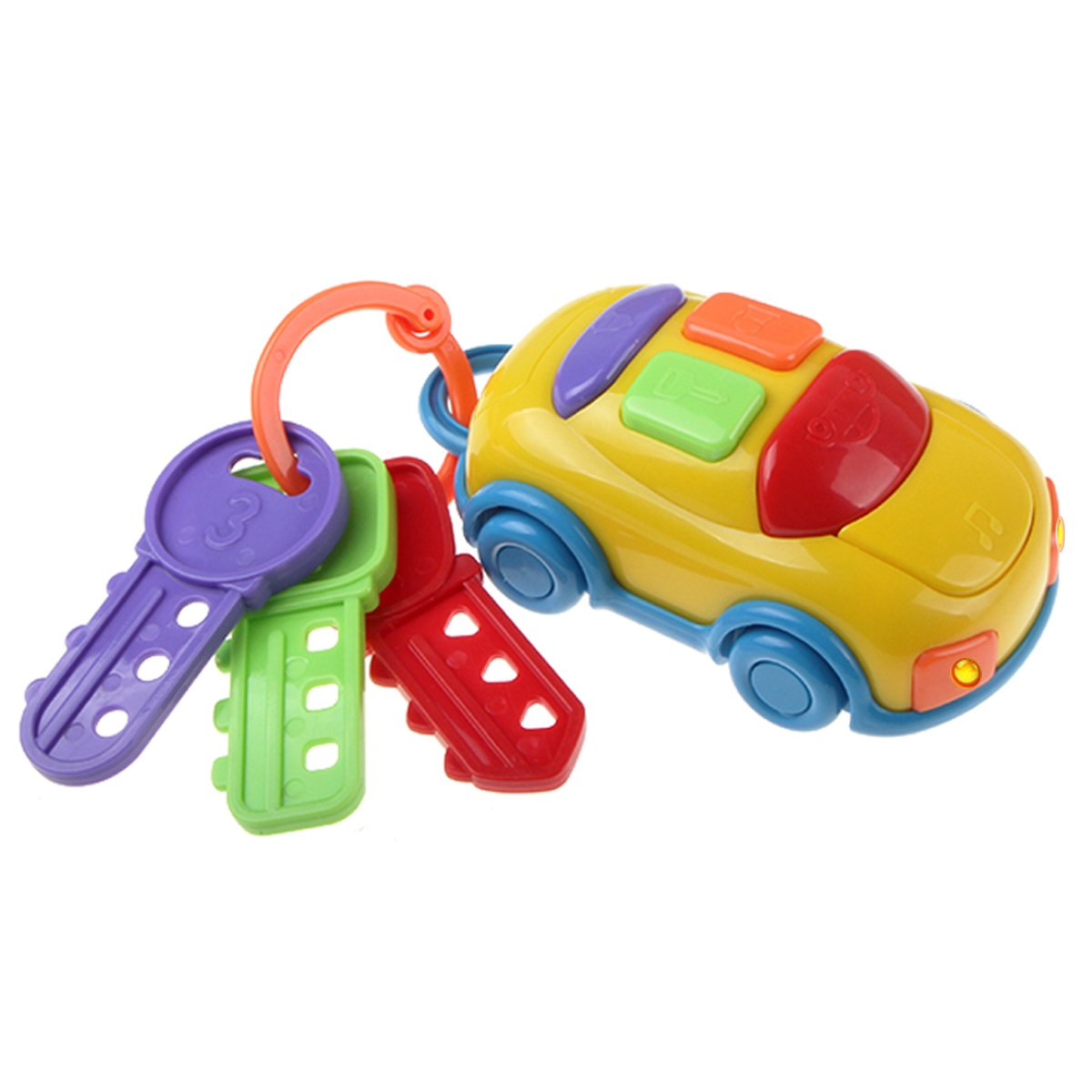 UTOPP Musical Car Keys Car Alarm Real Car Sounds with Two Head Lights Baby Kids Educational Toys