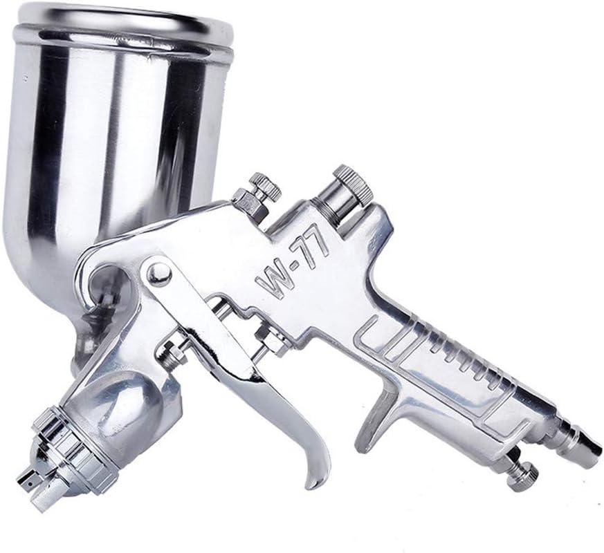 Pistolet /à Peinture avec Tasse 1000cc 2mm Nozzle 3mm Pulv/érisateur Argent/é R/églable de Peinture d/économie de Peinture de Haute Pression de Bec de 2//2.5