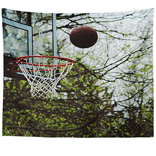nging Tapestry - Basketball Ball - Photography Home Decor Living Room - 51x60in (Team Mom Tapestry Throw)