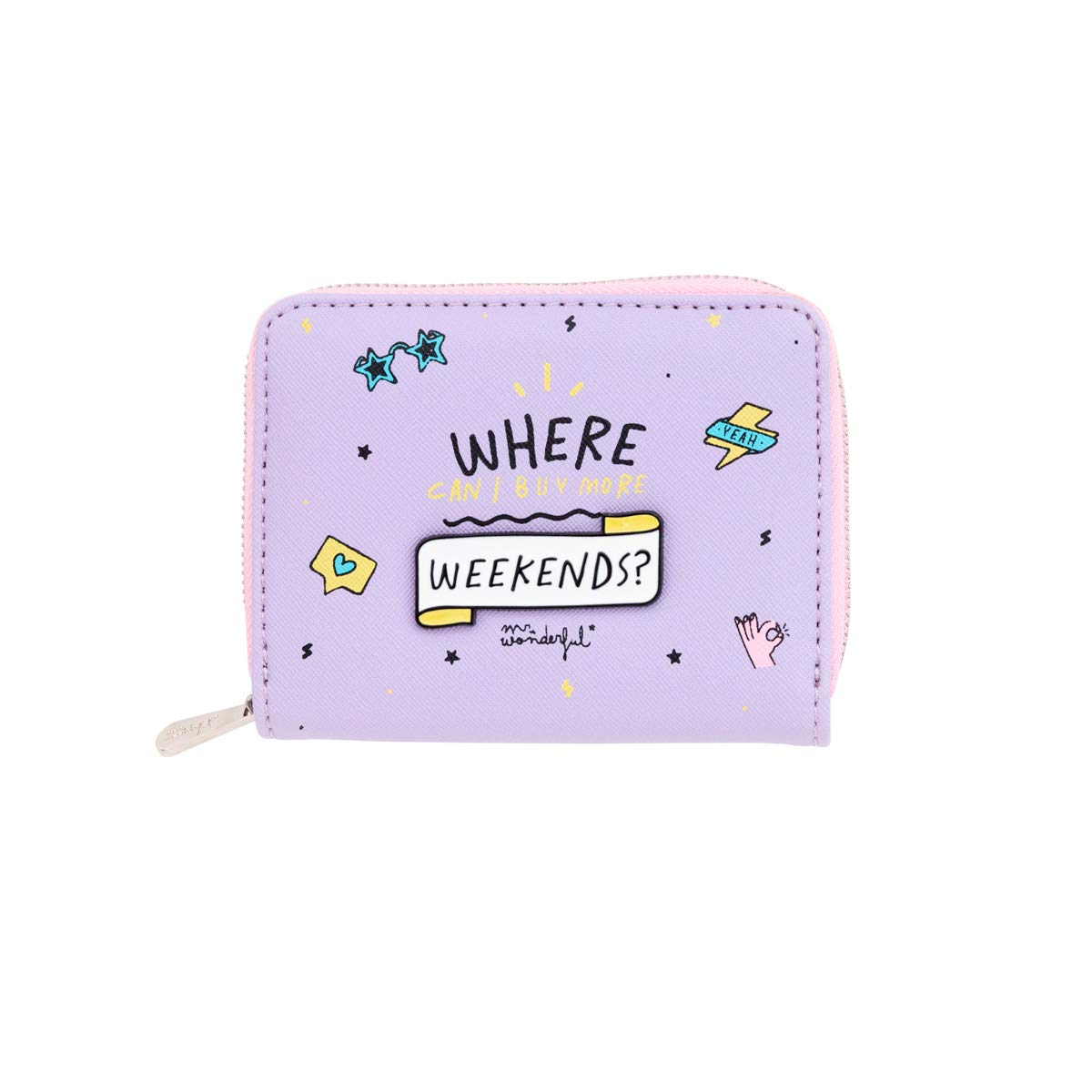 Mr. Wonderful Purse-Where Can I Buy More Weekends, Multicolor, Talla única