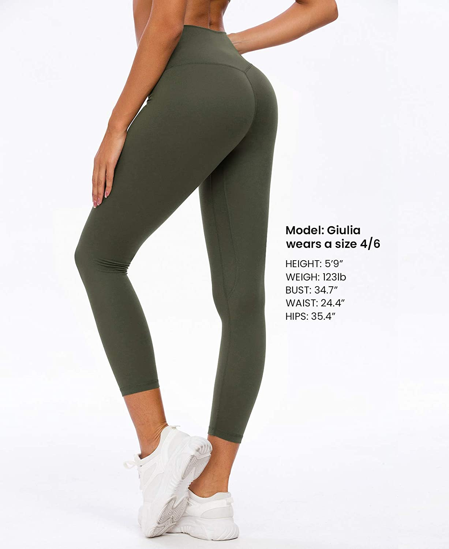 QUEENIEKE Leggings Yoga da Donna Pantaloni da Yoga a Vita Alta con Tasche Collant con Controllo della Pancia Morbidi per lo Yoga