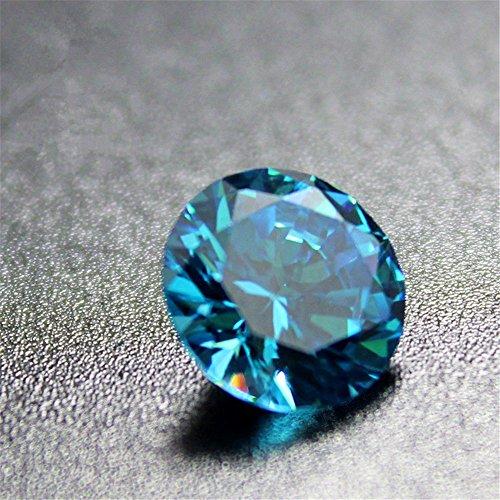 Aquamarine Round Faceted Gemstone Brilliant Cut Aquamarine Gem Multiple Sizes to Choose C38A