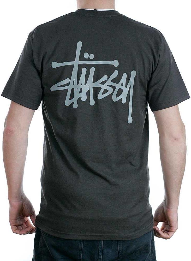 Stussy - Camiseta - para Hombre Negro Gris Oscuro L: Amazon.es: Ropa y accesorios