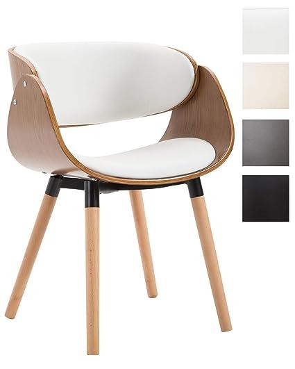 CLP Sedia da sala da pranzo SALTA con scocca in legno, sedia da ...
