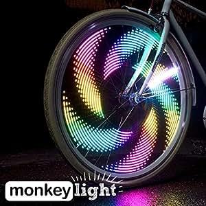 Monkey Light M232 - 200 Lumen - Bike Wheel Light - 32 Full Color LED - Waterproof