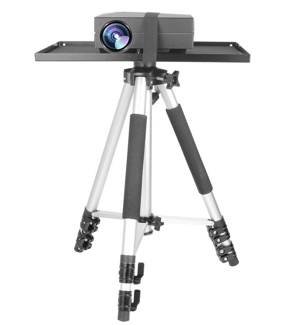 WER Soporte de trípode para proyector con soporte para ...