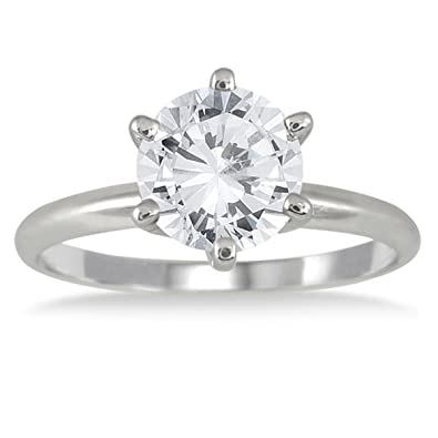 2 Carat Diamond Enement Ring | Ags Certified 1 1 2 Carat Diamond Solitaire Ring In 14k White Gold