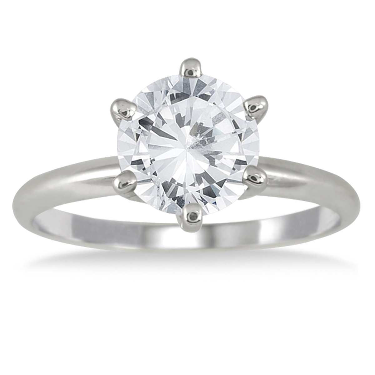 AGS Certified 1 1/2 Carat Diamond Solitaire Ring in 14K White Gold (J-K Color, I2-I3 Clarity)