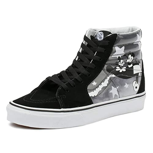 82ec999eef03a8 Vans Disney SK8-Hi Plane Crazy Black White Trainers-UK 3  Amazon.co ...