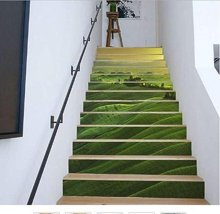 ZHOUHAOJIE Escaleras 3D Forest Stone 6 Unidades/Creativo DIY 3D Etiqueta De La Escalera Habitación Decoración De La Decoración del Hogar 200 * 18 Cm, B: Amazon.es: Hogar