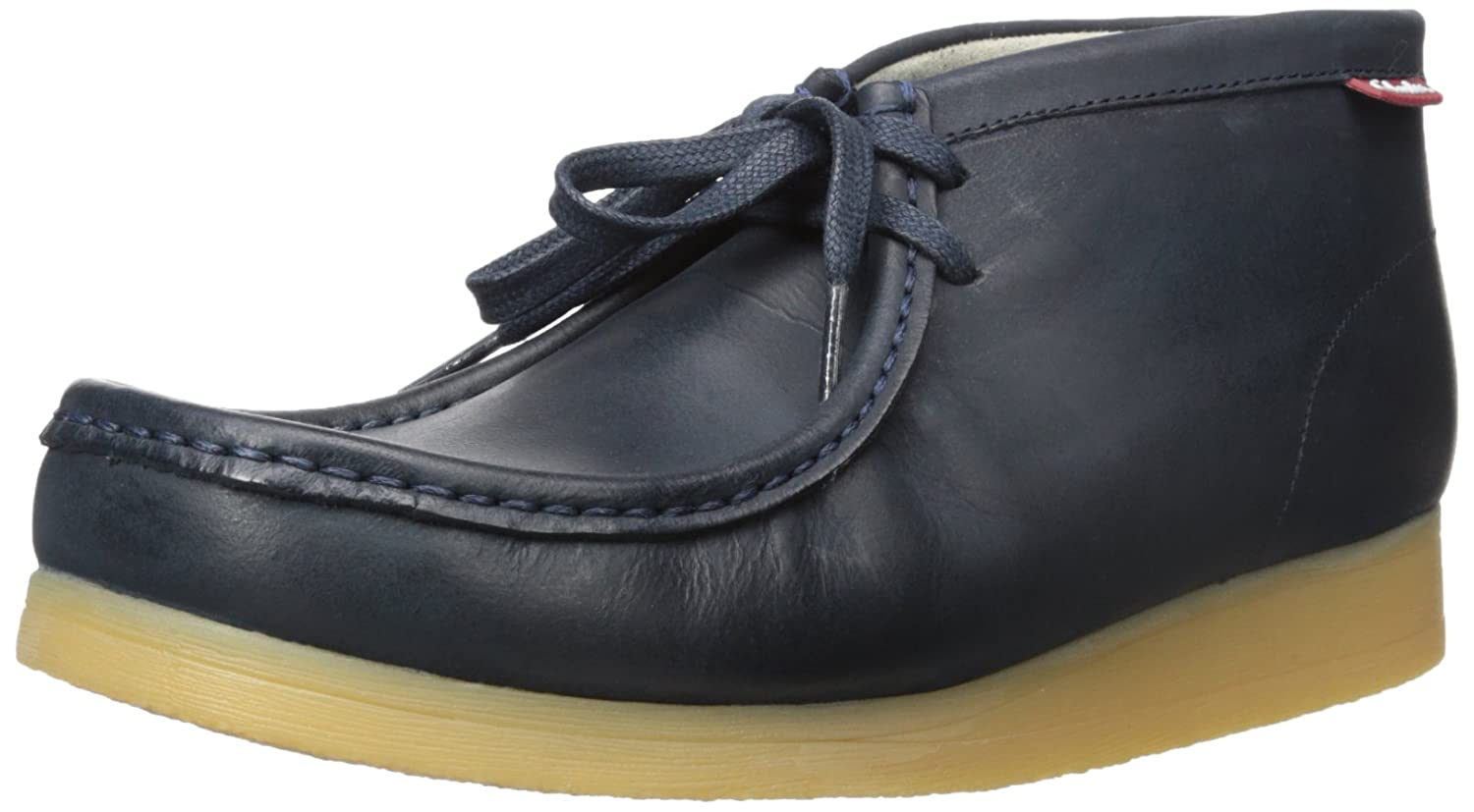 Navy Leather Clarks Men's Stinson Hi Lace-Up Boot