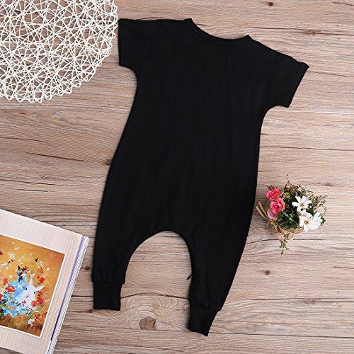 28fa3aabeb1d Baby Boy Girl Romper Bunny Print Short Sleeve Jumpsuit Zip Playsuit ...