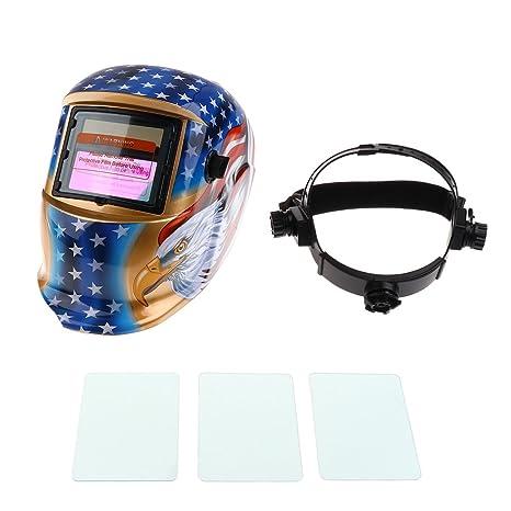 Energía Solar Oscurecimiento Automático Caretas para Soldar Casco de Soldadura Escudo de Soldadura Gafas Máscara de