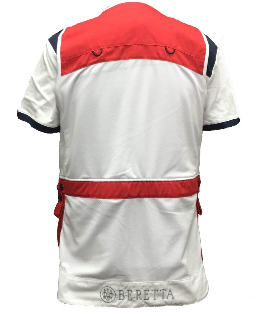 Beretta BEGT112T11300321XL Men's Competition Shooting Vest, Red, X-Large by Beretta (Image #2)