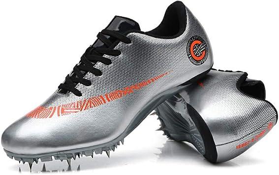 HYGLPXD Zapato De Sprint Profesional para Atletismo para Jóvenes, 8 Clavos para Atletismo En Pista Y Campo Zapatos para Correr Entrenamiento De Salto Largo Zapatilla De Atletismo,001,38EU: Amazon.es: Deportes y aire libre