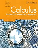 Book cover image for Calculus: Graphical, Numerical, Algebraic, 3rd Edition