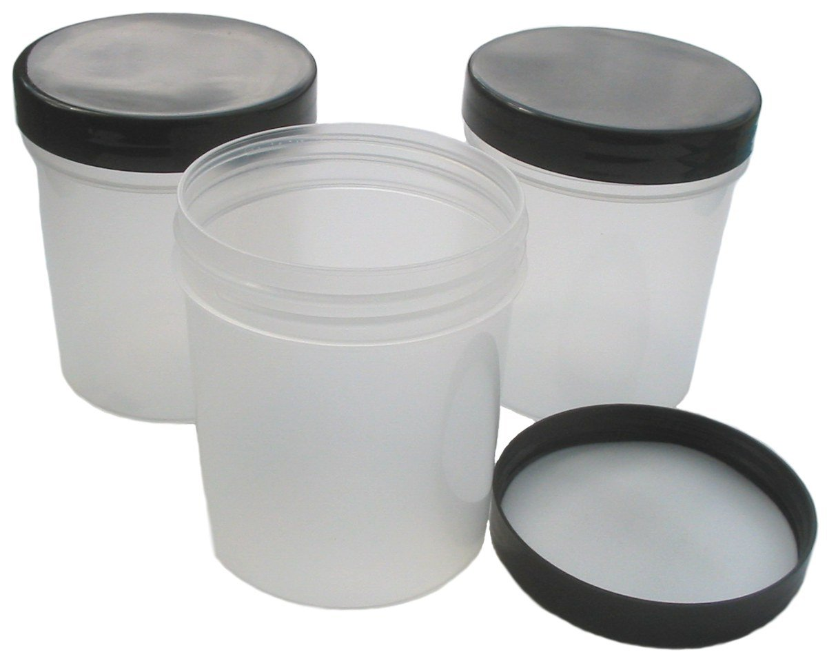 88d20e89d31b 250ml Empty Plastic Cosmetic Jar x 10 TRANSLUCENT with BLACK Lid (Storage  Pots/Containers)