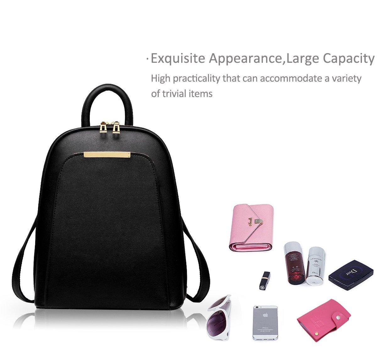 aea9dd39f885f NICOLE DORIS Neuer Trend Rucksack Umhängetasche Damen   Frauen Dual-Use-College  Wind Mode Reisetasche für Studenten(Black)  Amazon.de  Koffer
