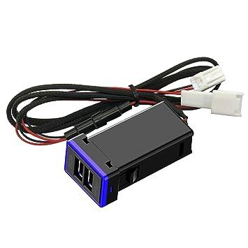 CHELINK - Adaptador de Enchufe USB para Coche con Cargador ...