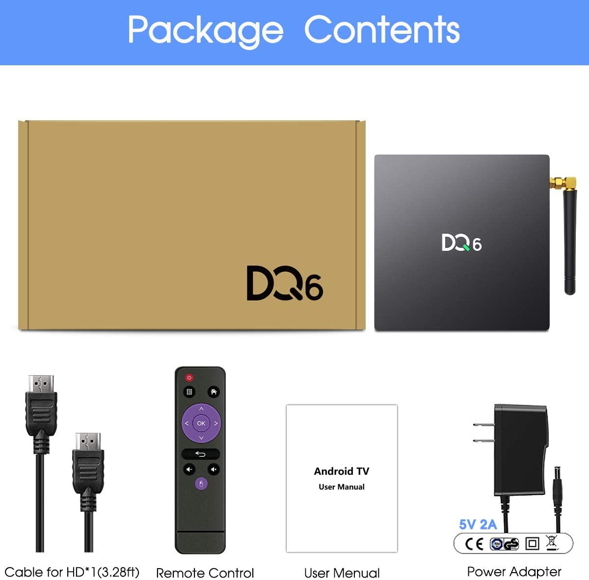 USB 3.0 3D 4K AOSP TV Box Android TV Box 10.0, 2020 Newest RK3318 ...