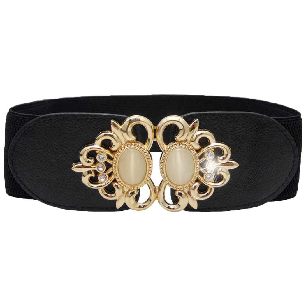 Xabern Elastic Waist Belt,Women Adjustable Waist Belt Corset Stretch Buckle Dress Wide Waistband Belts