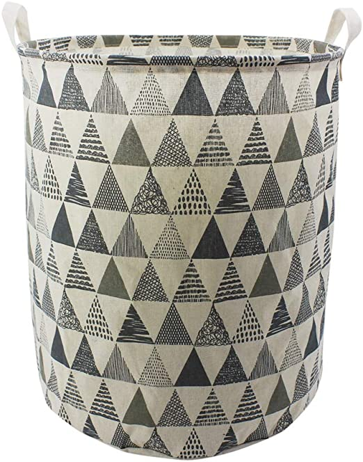 Collapsible Canvas Linen Laundry Sorter Bag Load Hamper Storage Box Toy Bucket
