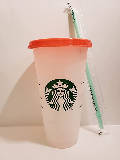 Starbucks Summer 2021 Swirl Color Changing Reusable 24oz. Cold Cup (1)