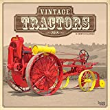 Vintage Tractors 2018 12 x 12 Inch Monthly Square Wall Calendar, Farm Rural Country