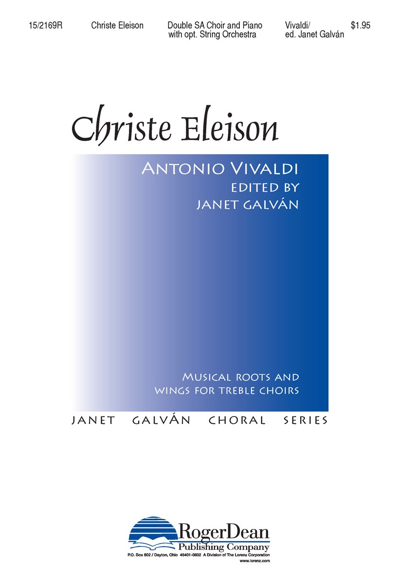 Christe Eleison (Educational Octavo, SA, Double Choir, Keyboard) PDF