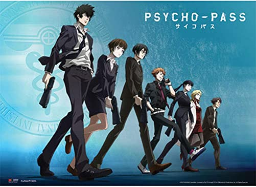 Psycho-Pass Group Line up Wall Scroll, 33 x 44 inches