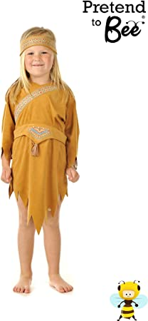 Pocahontas - Disfraz de india para niña, talla 3-5 años: Amazon.es ...