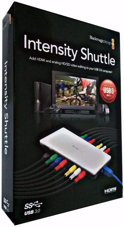 Blackmagic Design Intensity Shuttle Thunderbolt Amazon Co Uk Computers Accessories