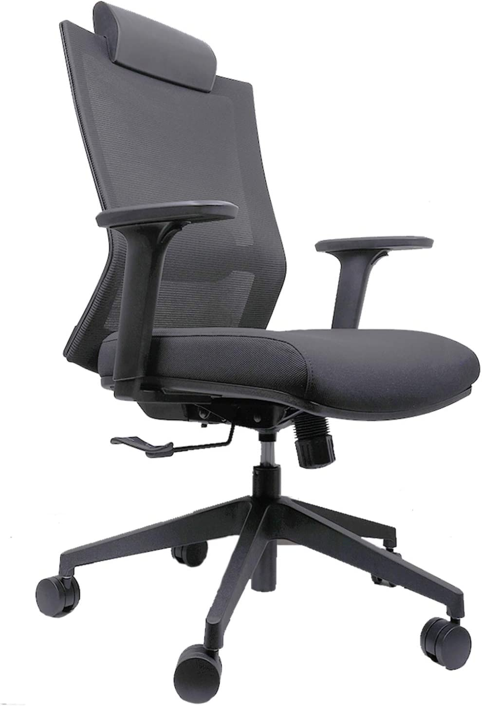 Ergonomic Swivel Executive Chair, Office Chair, Computer Chair with Breathable Mesh, Thick Seat Cushion, Adjustable Lumbar Support, Adjustable Armrest, Backrest and Headrest