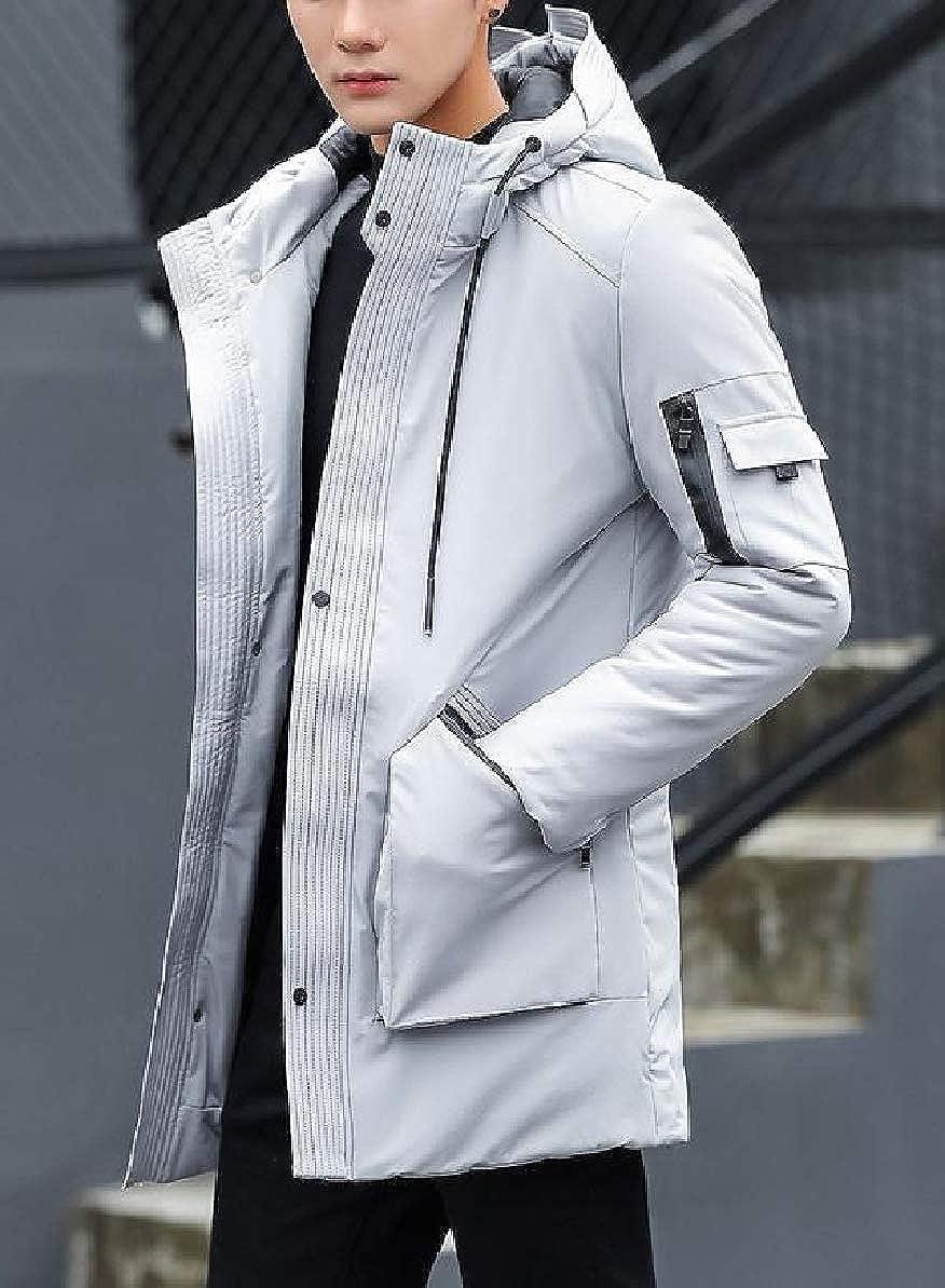 Zimaes-Men Full-Zip Standard-fit Hooded Warm Fall Winter Outwear Thick Coat