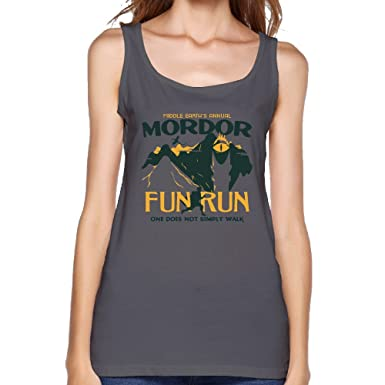 Amazon.com: Cotton Middle Earths Annual Mordor Fun Run Tank Top For Women: Clothing