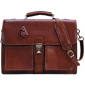 51bbed4c3 Amazon.com   Floto Luggage Novella Briefcase, Brown, One Size ...