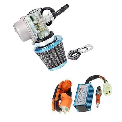 MagiDeal Conjunto de Carburador con Filtro de Aire Combustible Bobina de Encendido Caja CDI Bujía Accesorios