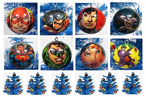 Comic Book Super Hero Holiday Christmas Ornament Set - Unique Shatterproof Foam Design by Holiday Ornaments]()