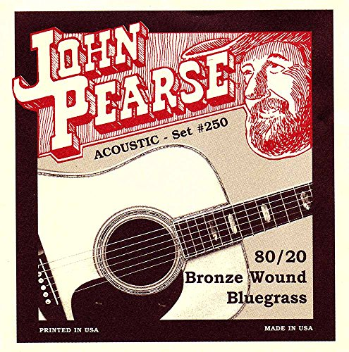 Guitar Strings Bluegrass (John Pearse P250 Bronze Acoustic Guitar Strings, Medium)