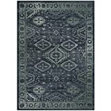 Maples Rugs Area Rugs – Georgina 5 x 7 Non Slip Large Rug [Made in USA] for Living Room, Bedroom, and Dining Room, 5′ x 7′, Navy Blue/Green
