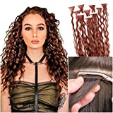 "Remeehi Loose Wave Curly Real Human Hair Tape in on Hair Extensions 20pcs/50g Skin Weft Hair Extensions (18"" 20#)"