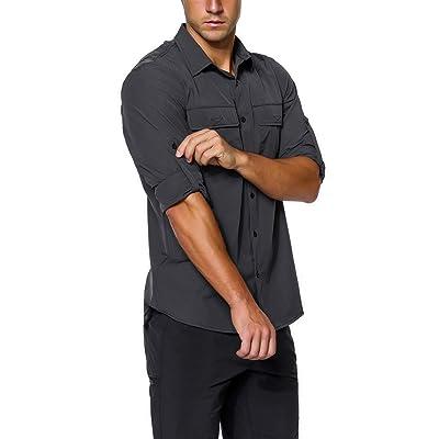 Amazon.com : unitop Men's Hiking Shirt Roll-Up Long Sleeve Fishing Shirt : Clothing