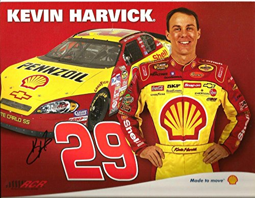 2007 Kevin Harvick SHELL PENNZOIL NASCAR RACING Signed Auto 8.5x11 Postcard - NASCAR Cut Signatures (Kevin Harvick Shell Racing)